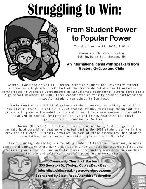 Tuesday: From Student Power to Popular Power